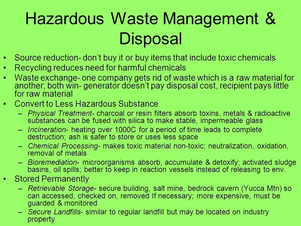 Hazardous Waste Management & Disposal