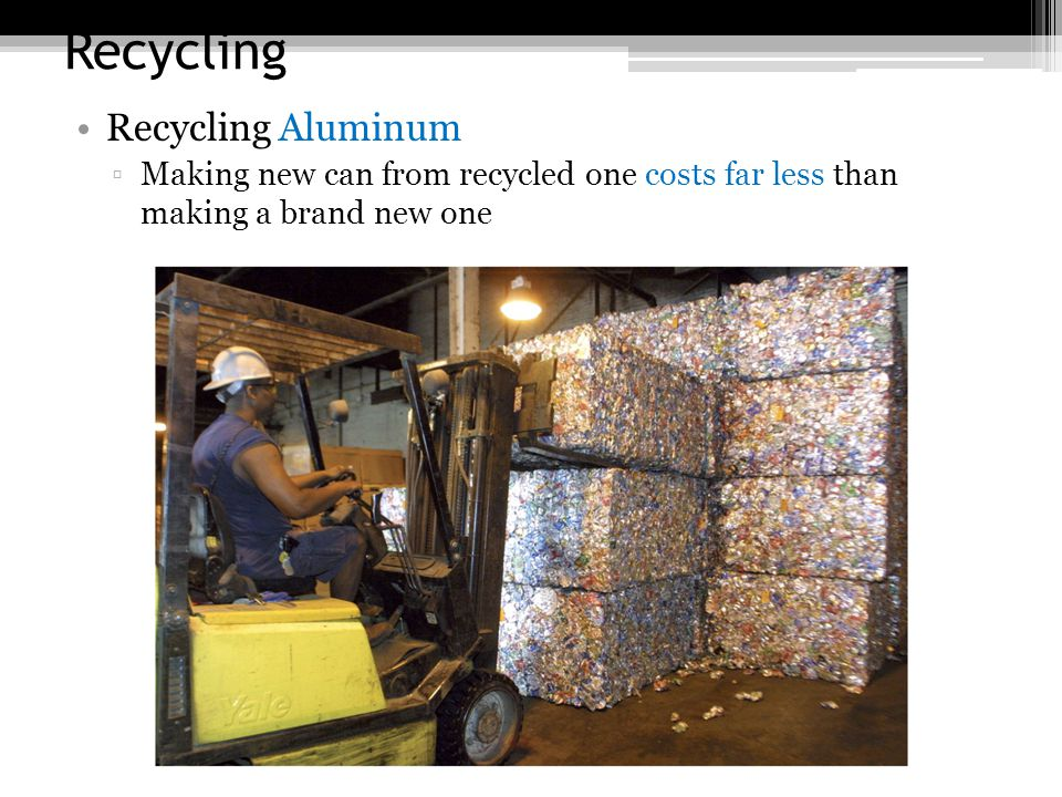 Recycling Recycling Aluminum