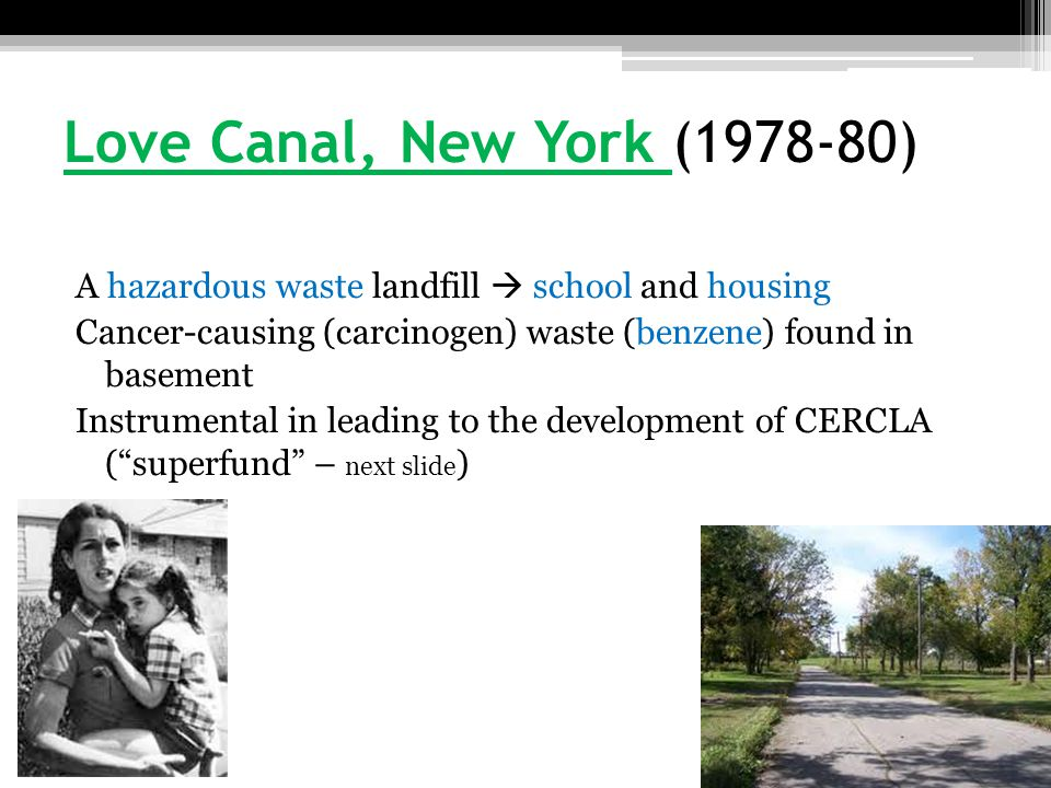 Love Canal, New York (1978-80)