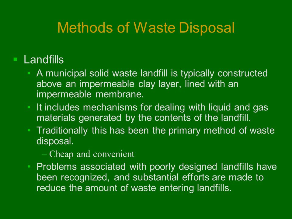 Methods of Waste Disposal