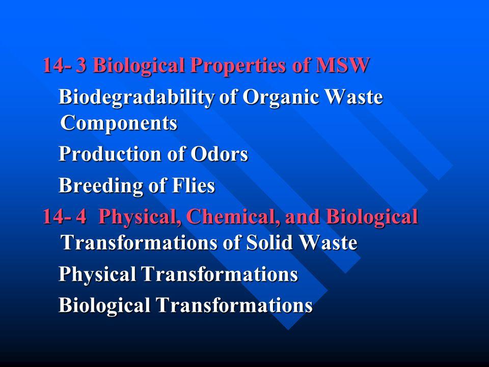 14- 3 Biological Properties of MSW