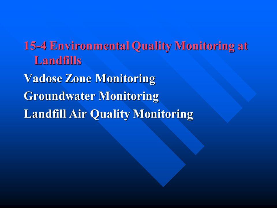 15-4 Environmental Quality Monitoring at Landfills