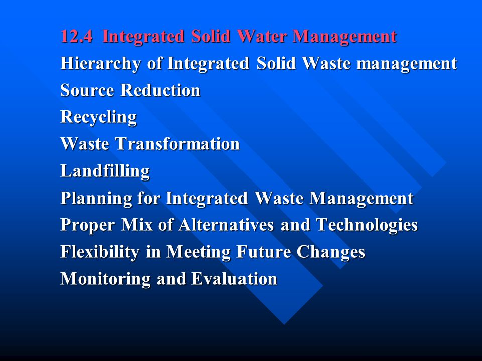 12.4 Integrated Solid Water Management