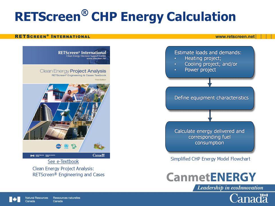 RETScreen® CHP Energy Calculation