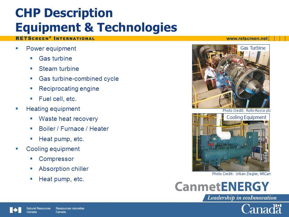 CHP Description Equipment & Technologies
