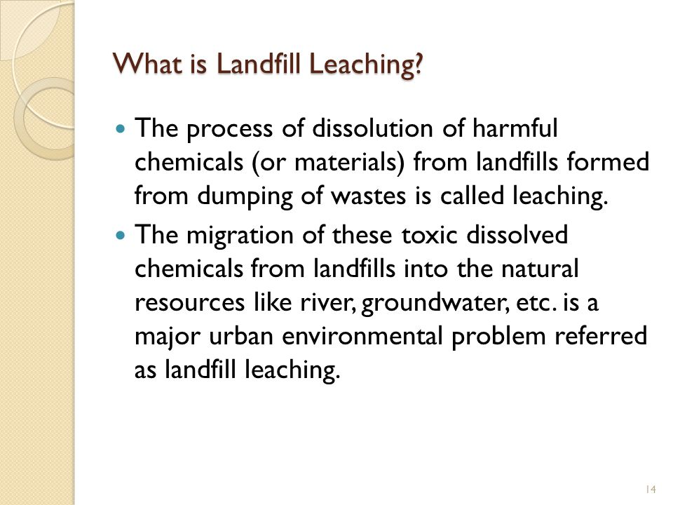 What is Landfill Leaching