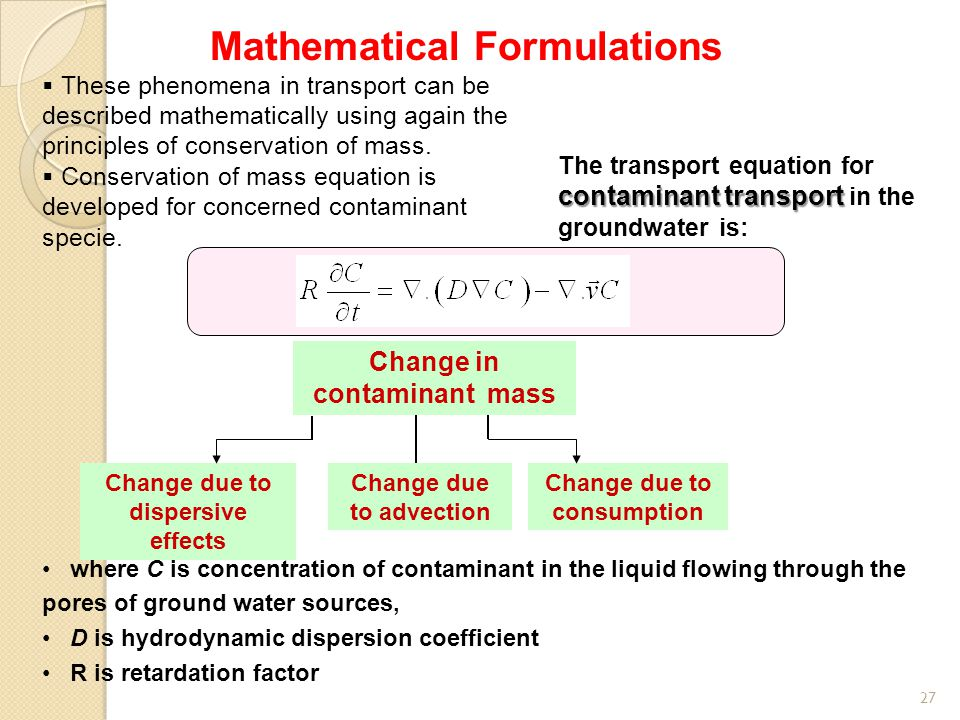 Mathematical Formulations