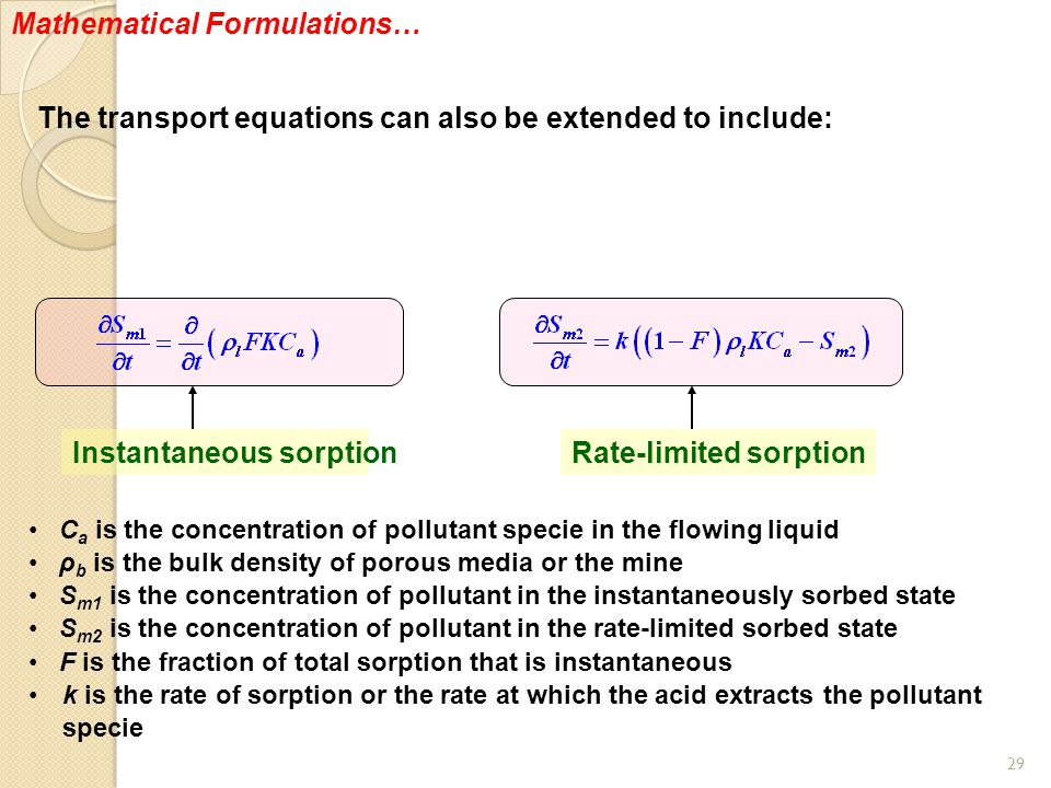 Mathematical Formulations…