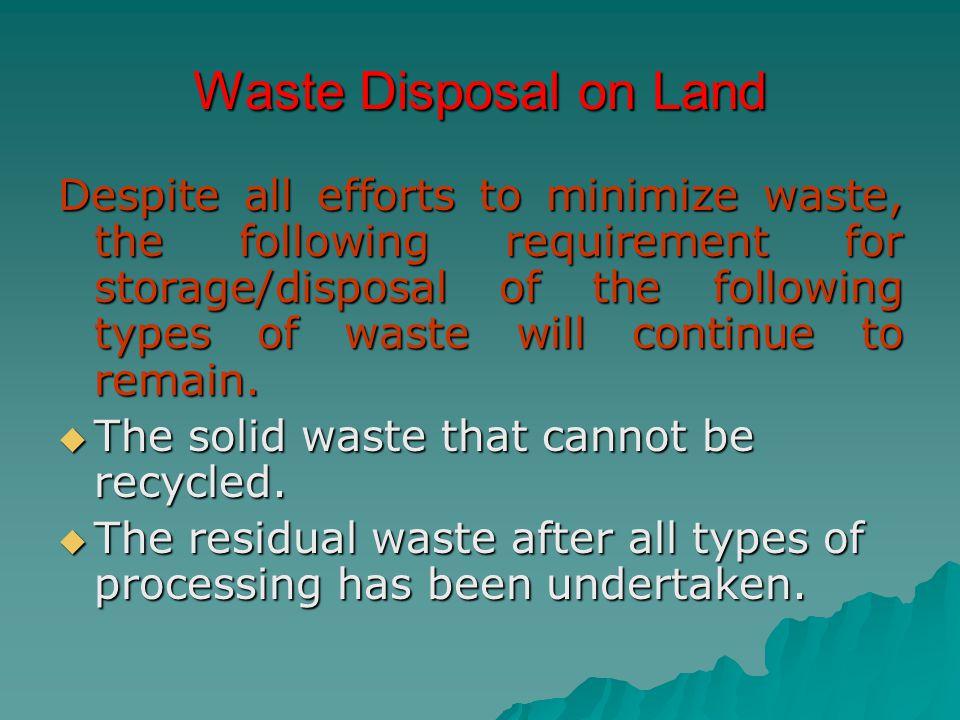 Waste Disposal on Land