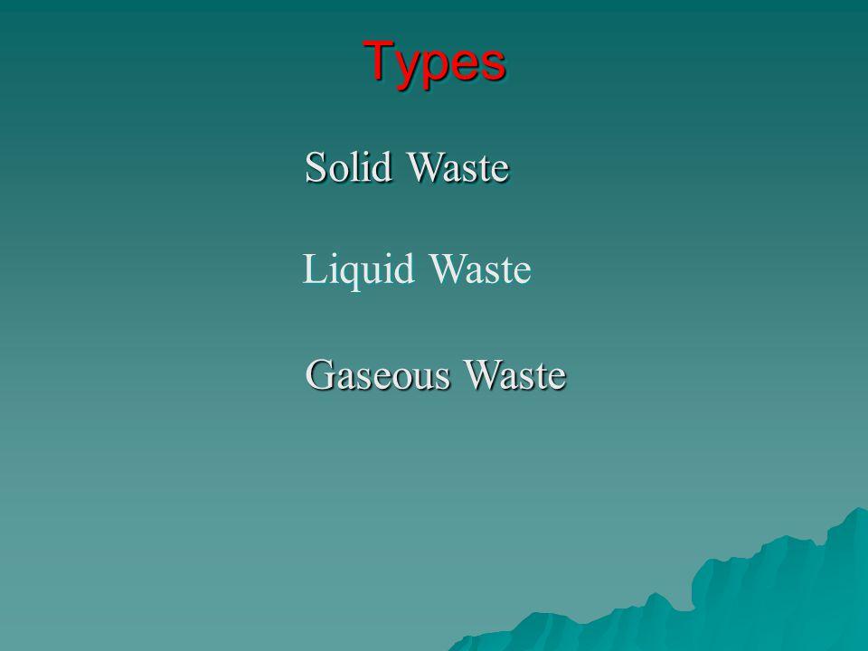 Types Solid Waste Liquid Waste Gaseous Waste
