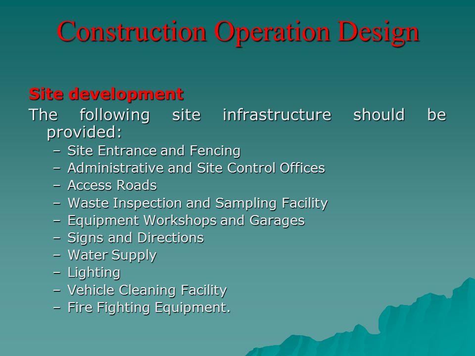 Construction Operation Design