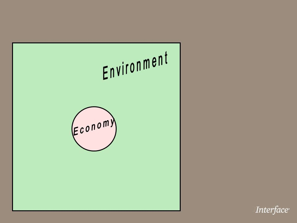 Environment Economy Economy is the wholly owned subsidiary of the environment!
