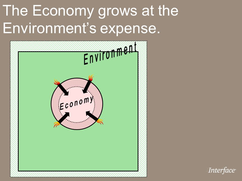 The Economy grows at the Environment's expense.