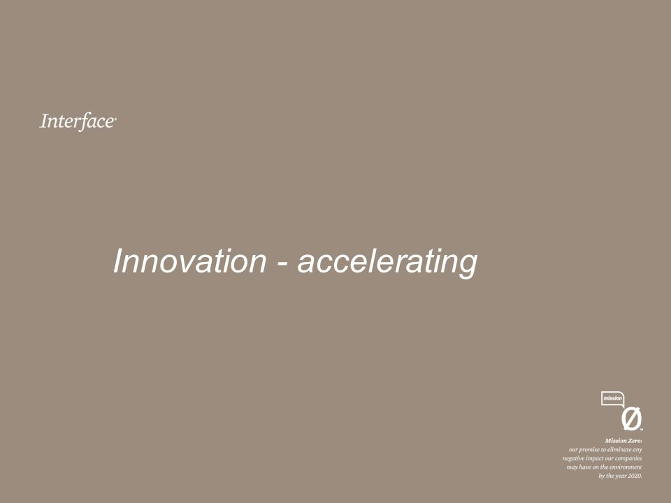 Innovation - accelerating