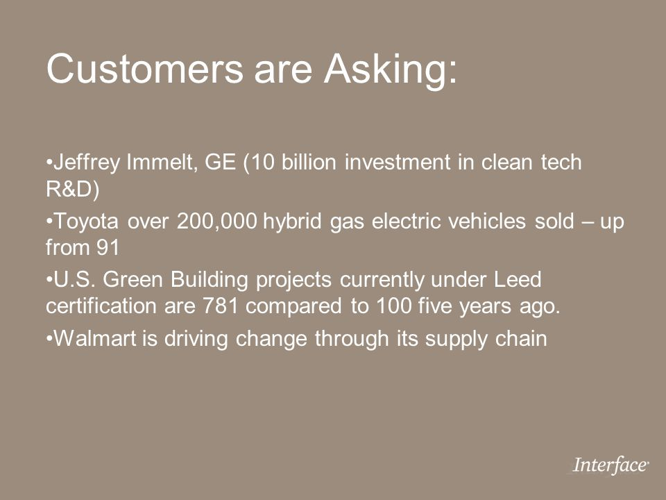 Customers are Asking: Jeffrey Immelt, GE (10 billion investment in clean tech R&D)