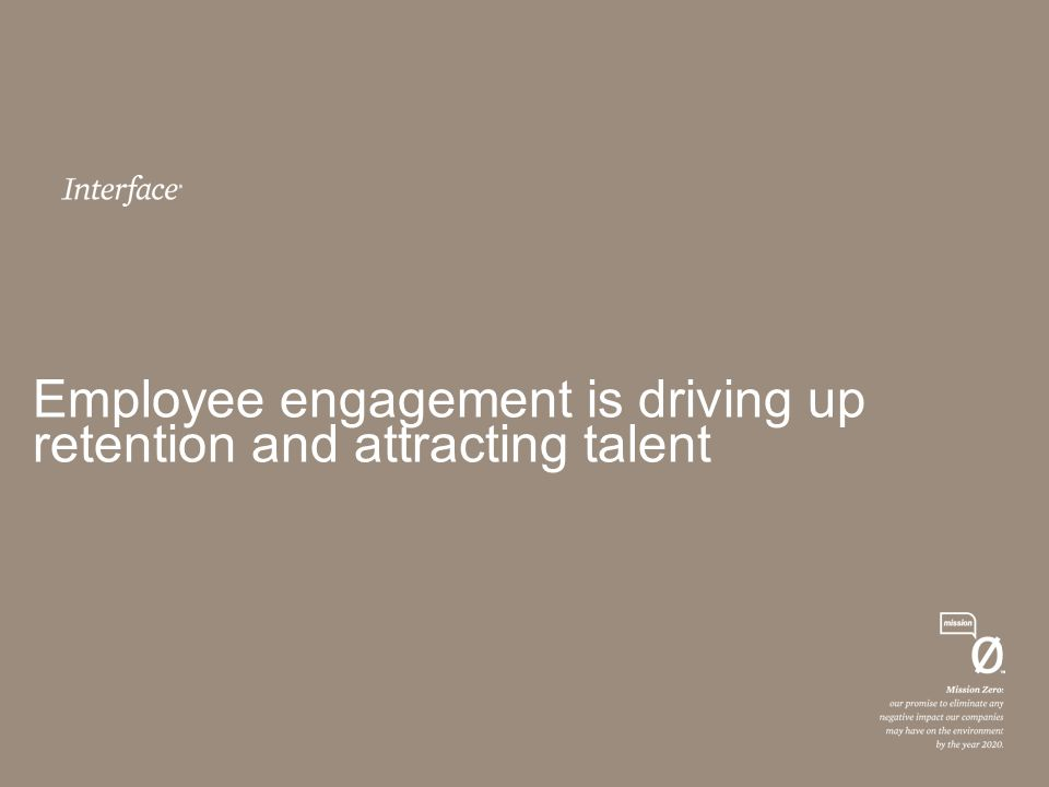 Employee engagement is driving up retention and attracting talent