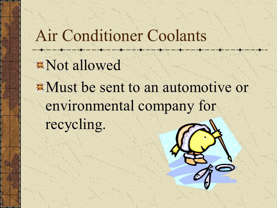 Air Conditioner Coolants