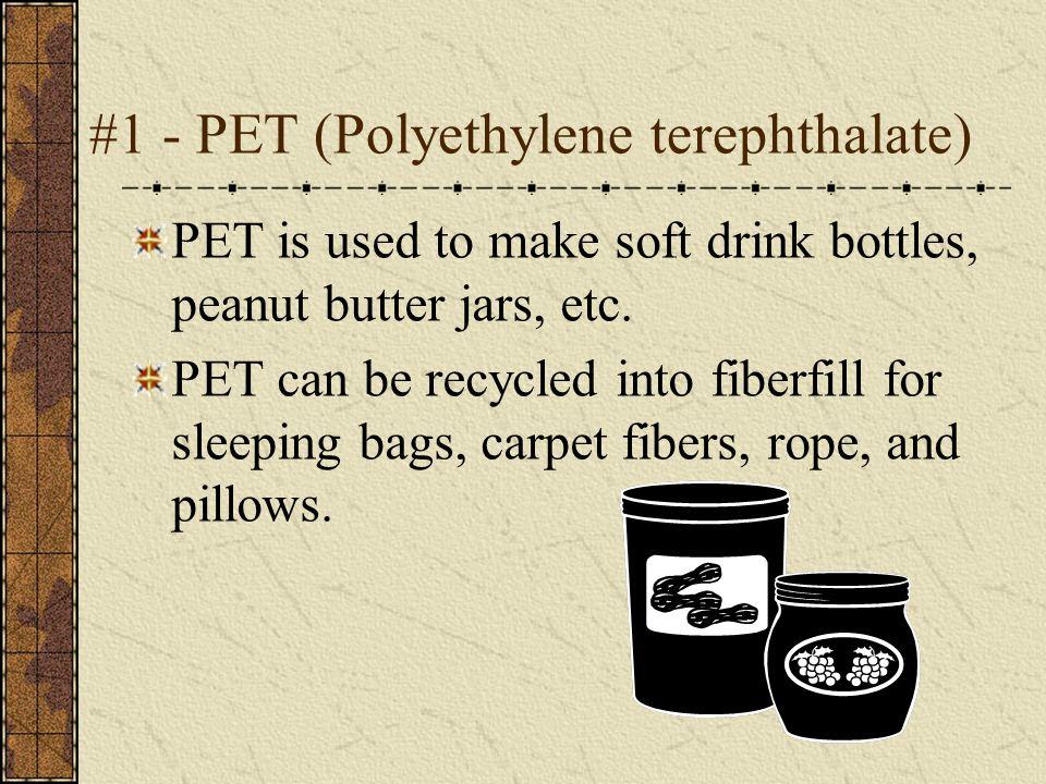 #1 - PET (Polyethylene terephthalate)