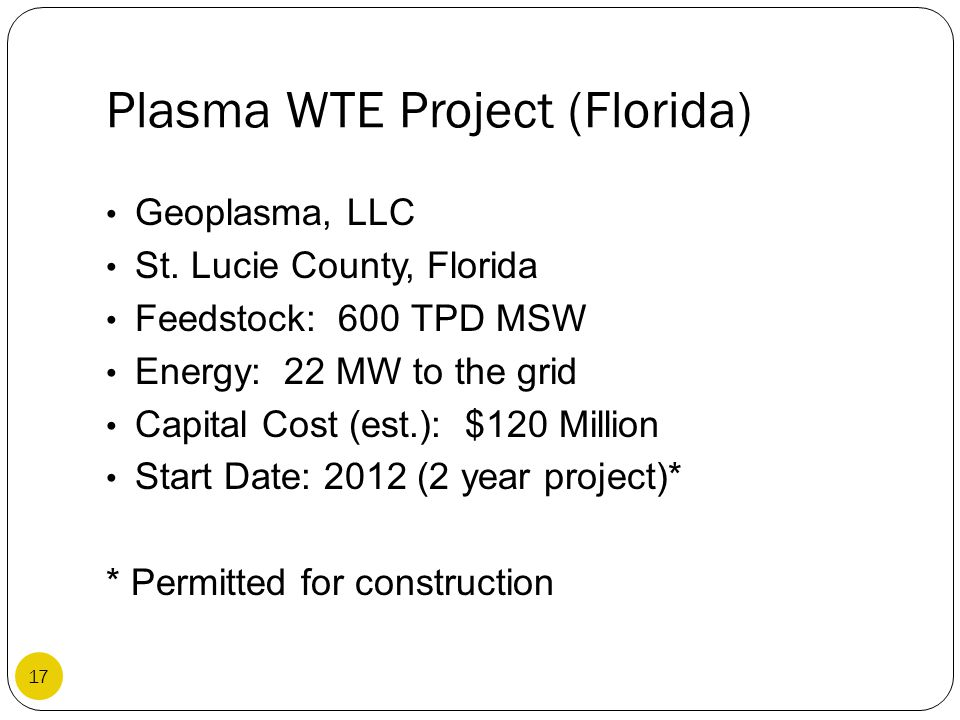Plasma WTE Project (Florida)