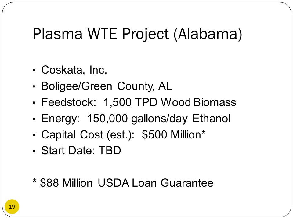 Plasma WTE Project (Alabama)