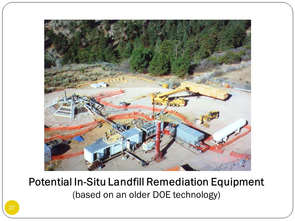 Potential In-Situ Landfill Remediation Equipment (based on an older DOE technology)