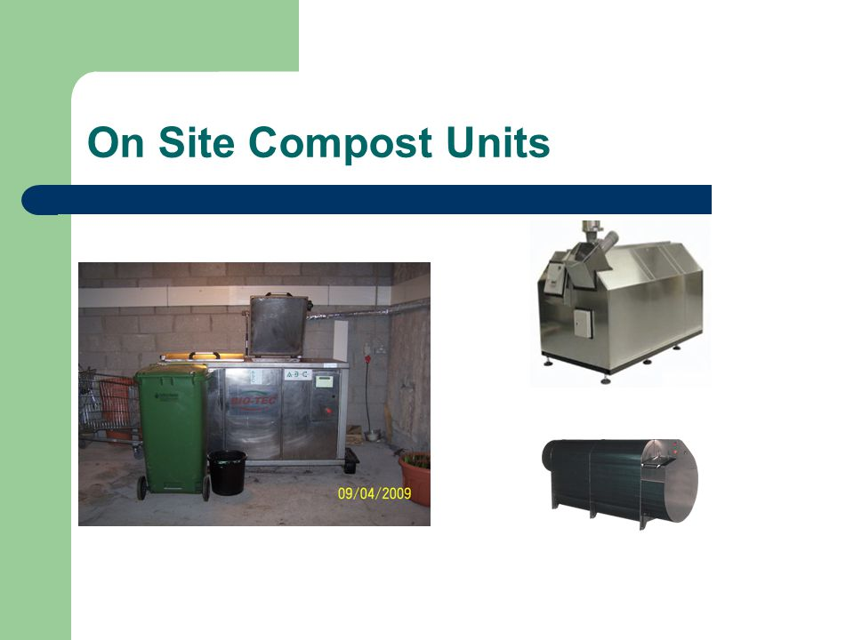 On Site Compost Units
