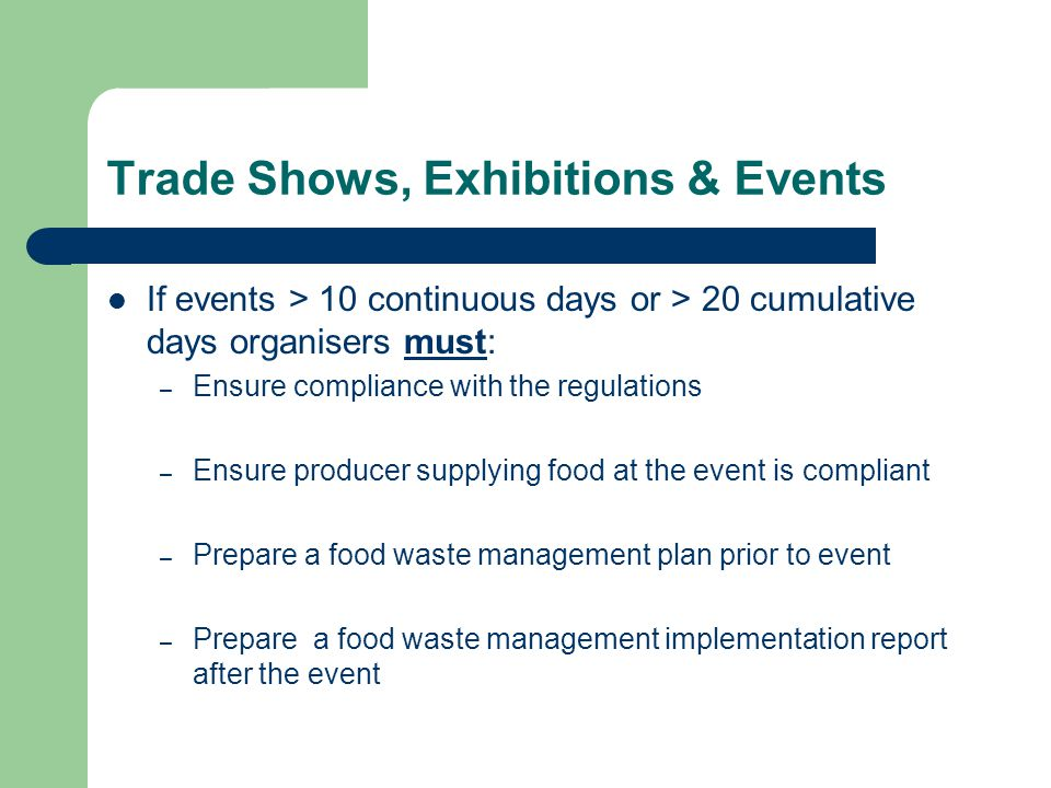 Trade Shows, Exhibitions & Events
