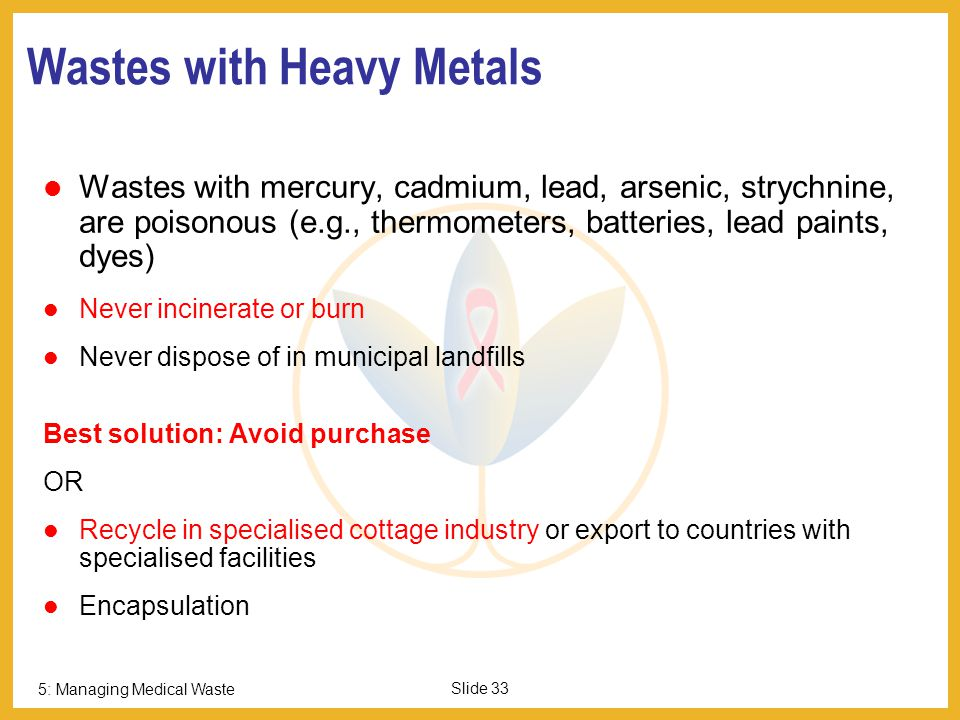 Wastes with Heavy Metals