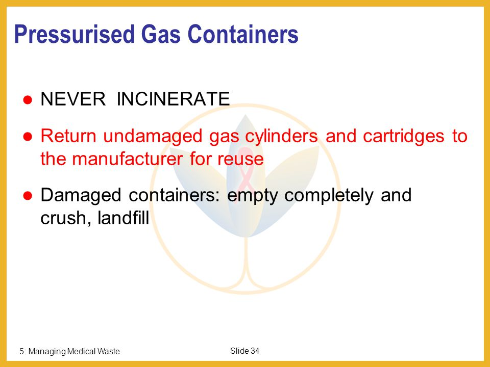 Pressurised Gas Containers