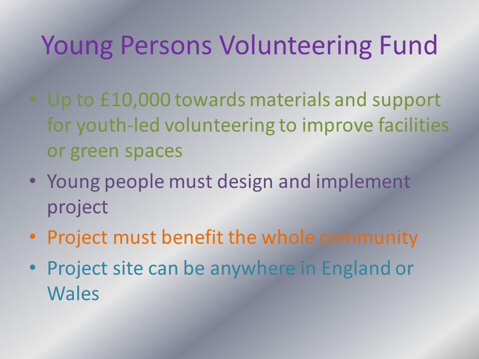 Young Persons Volunteering Fund