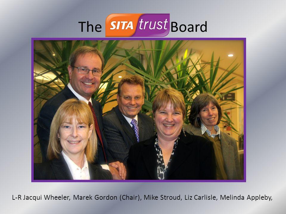 The Board L-R Jacqui Wheeler, Marek Gordon (Chair), Mike Stroud, Liz Carlisle, Melinda Appleby,