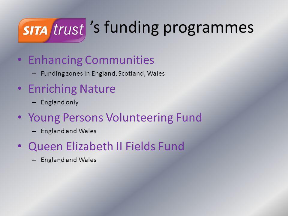 's funding programmes Enhancing Communities Enriching Nature