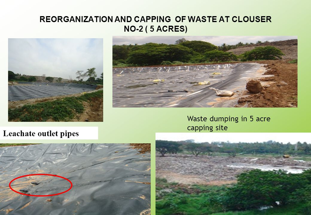 REORGANIZATION AND CAPPING OF WASTE AT CLOUSER NO-2 ( 5 ACRES)