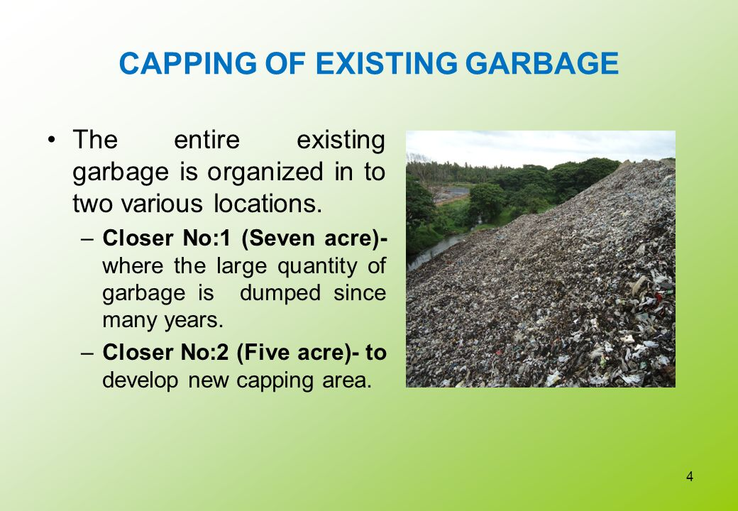 CAPPING OF EXISTING GARBAGE