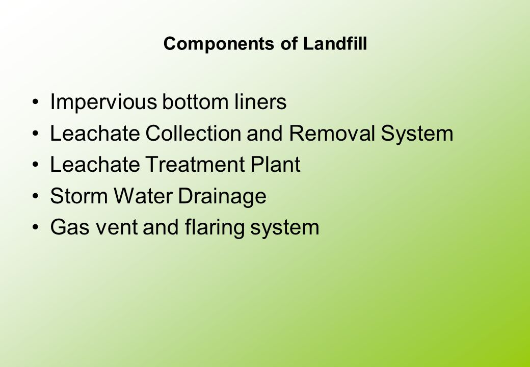 Components of Landfill