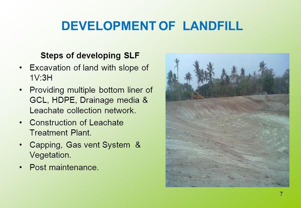 DEVELOPMENT OF LANDFILL