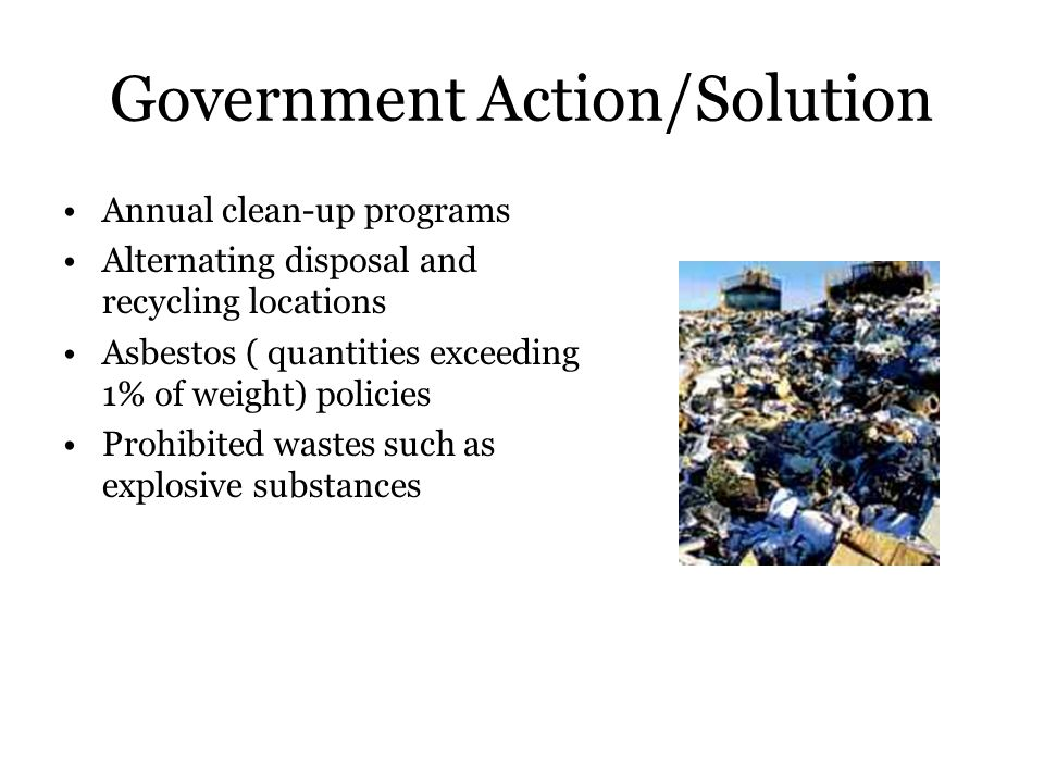 Government Action/Solution