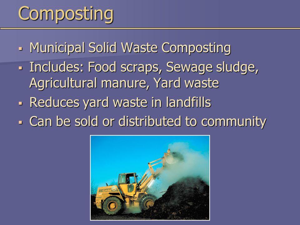 Composting Municipal Solid Waste Composting