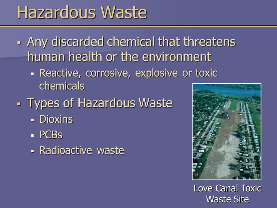 Love Canal Toxic Waste Site