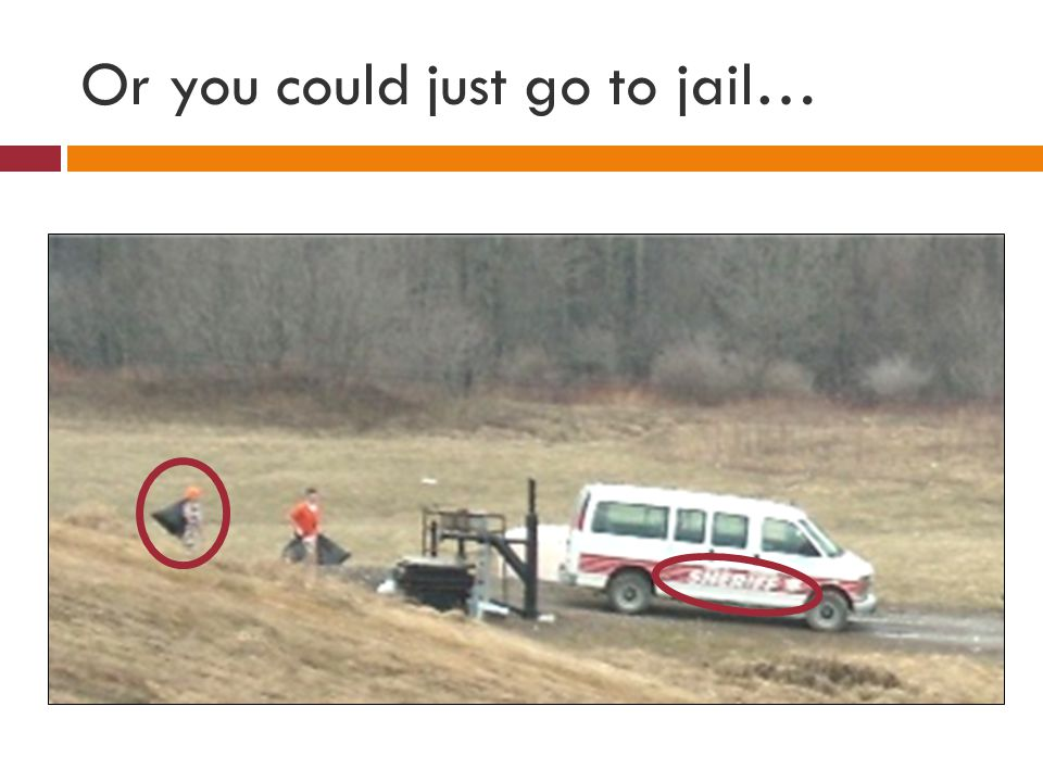 Or you could just go to jail…