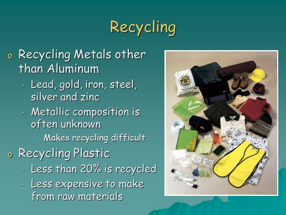 Recycling Recycling Metals other than Aluminum Recycling Plastic