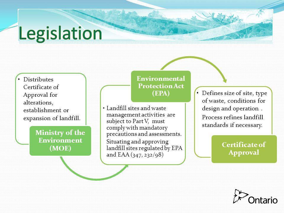 Legislation Certificate of Approval
