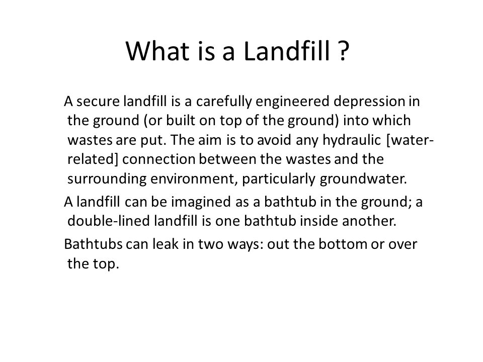 What is a Landfill