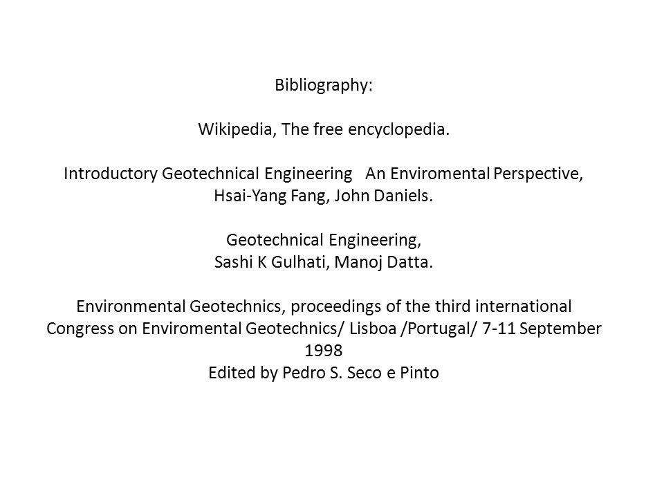 Bibliography: Wikipedia, The free encyclopedia