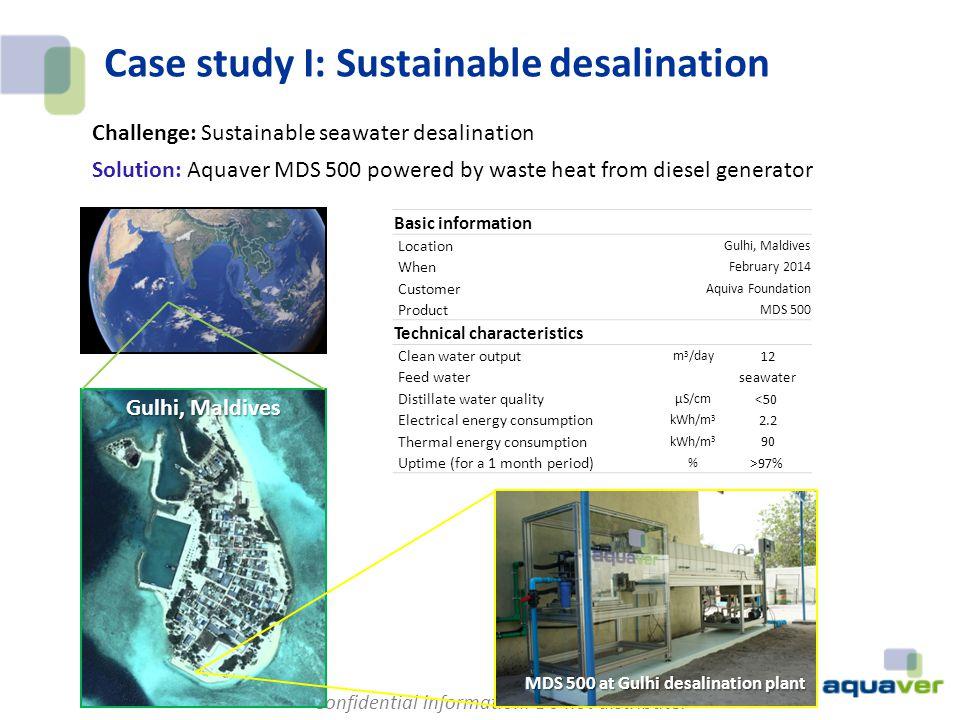 Case study I: Sustainable desalination