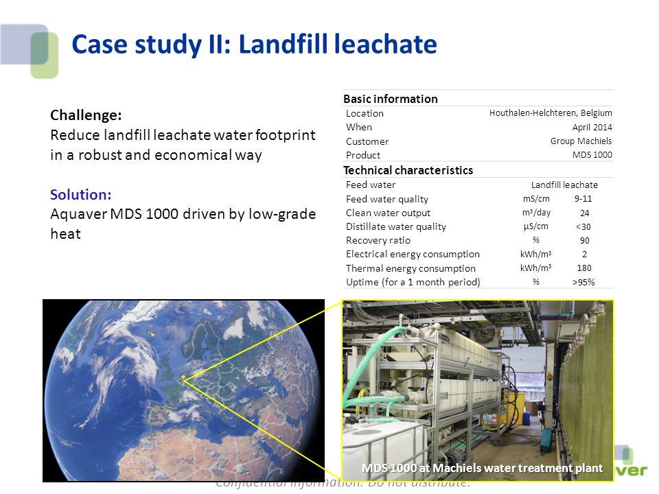 Case study II: Landfill leachate