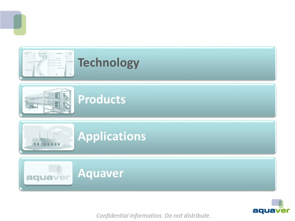 Technology Products Applications Aquaver