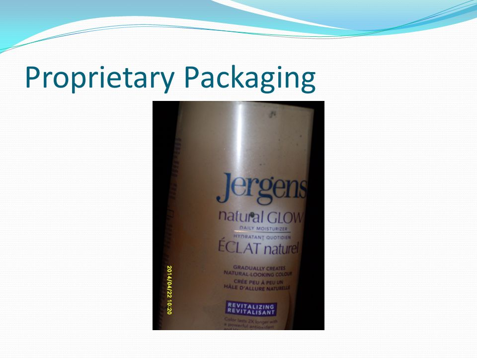 Proprietary Packaging