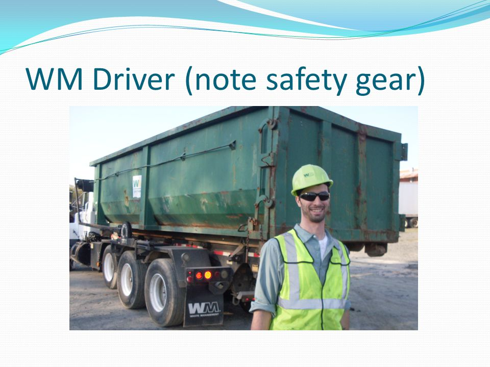 WM Driver (note safety gear)