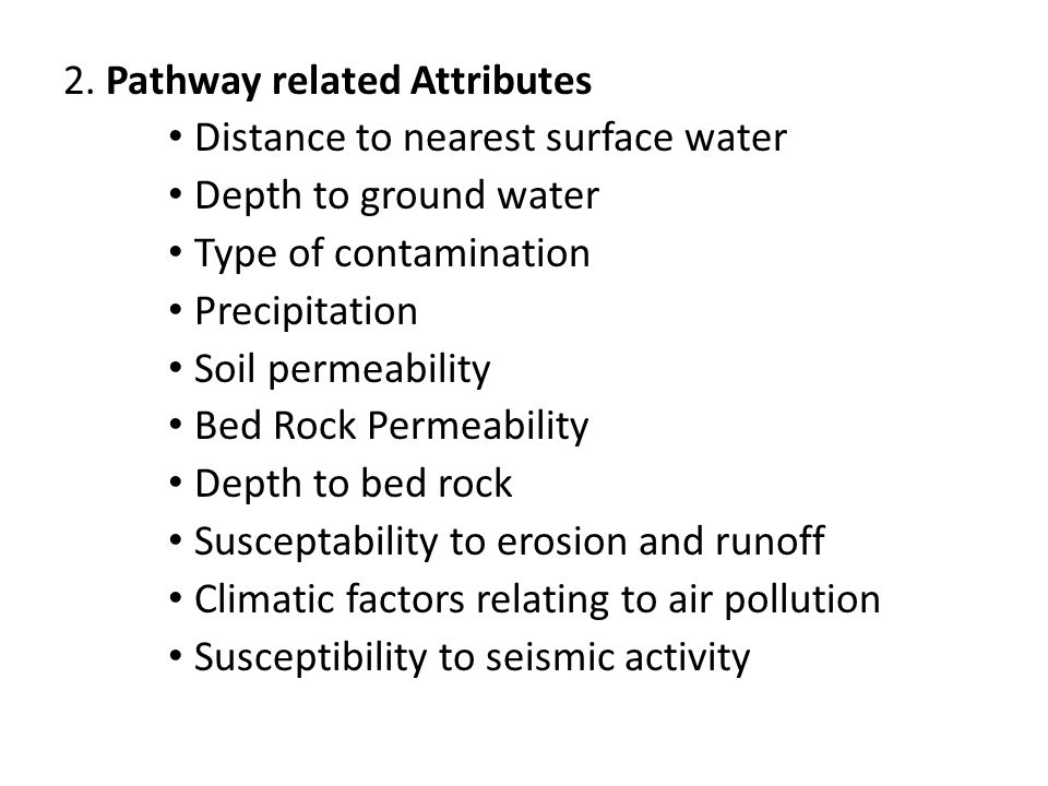 2. Pathway related Attributes